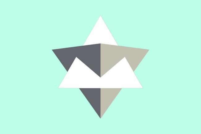 立立体の正面からの図