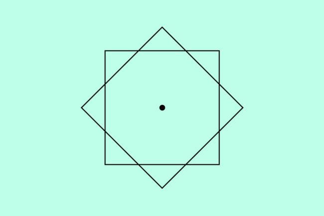 簡略化した立立体の真上からの図。菊の御紋。